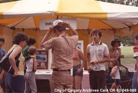 Information booth at the Canada Day Celebrations, Calgary, Alberta