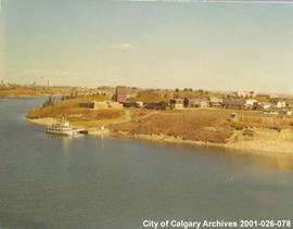 Aerial View of the S.S. Moyie Docked at Heritage Park, Calgary, Alberta