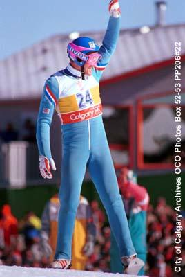 Ski Jumping, 90m , Eddie Edwards from Great Britain