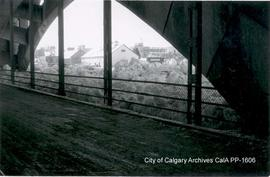 Bow River Ice Jam near Centre Street Bridge, 1959