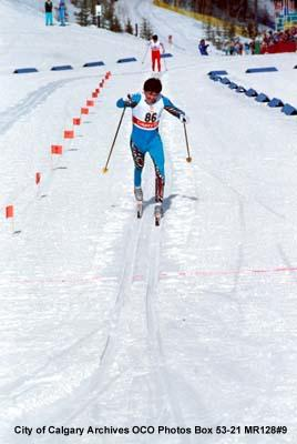 Cross-country Skiing, Men's 15km, Mikhail Deviatiarov from the USSR