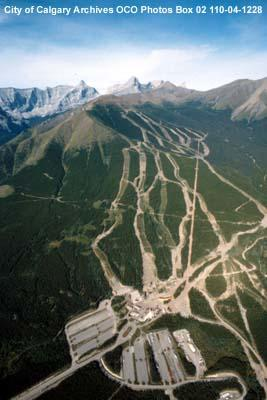 Aerial View of Nakiska at Mount Allan, Kananaskis, Alberta