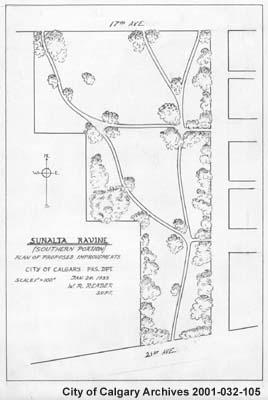 Sunalta Ravine - Plan of Proposed Improvements, Calgary, Alberta