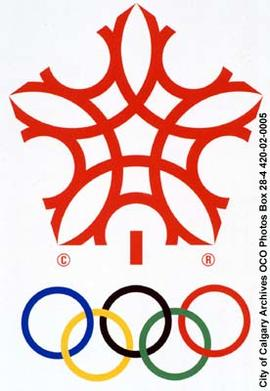XV Olympic Winter Games Emblem