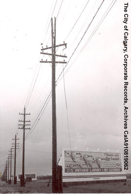 Lightning damage to ring main pole.