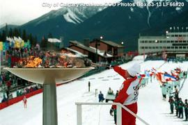 Cauldron Lighting at Canmore Nordic Centre, Calgary, Alberta