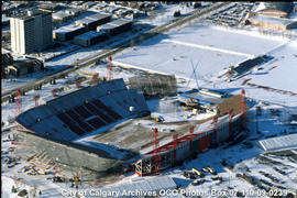 Aerial View of McMahon Stadium During Construction, Calgary, Alberta