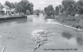 Elbow River Flood near 25th Avenue S.W. Bridge, 1957