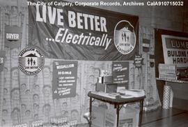 """Live Better...Electrically"" booth in Canmore, Alberta."
