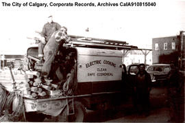 City of Edmonton line truck.