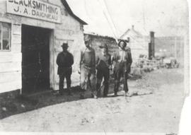 Group outside J.A. Daigeneau Blacksmithing