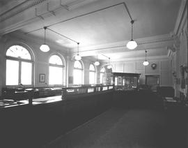 Interior of the Bank of Montreal, Wetaskiwin, Alberta.