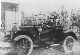 Dr. T.B. Stevenson in his car