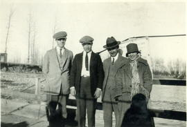 Denney, Dunnigan, Thurber, Alta Bell on McLeod Rier Ferry, Alberta.