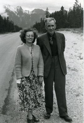 Nels E. Bell with Elizabeth Mandick.