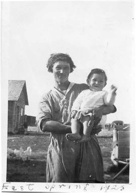 Mrs. Erickson and Child, at East Springs, Alberta