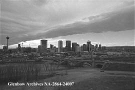A decent chinook arch is received by Calgary at last, Calgary, Alberta.