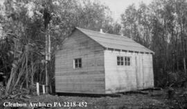 Hunting cabin on New Channel, west of Cumberland Lake, Saskatchewan.
