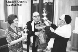 35th wedding anniversary celebration marked at Shaarey Tzedec Synagogue, Calgary, Alberta.