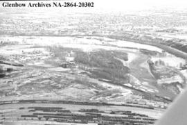 Aerials of Inglewood golf course, Calgary, Alberta.