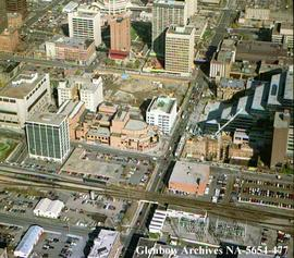 Aerial view showing Calgary Centre for Performing Arts, Calgary, Alberta.