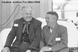 "Radio veterans Don MacKay and Francis ""Scoop"" Turner, Calgary, Alberta."