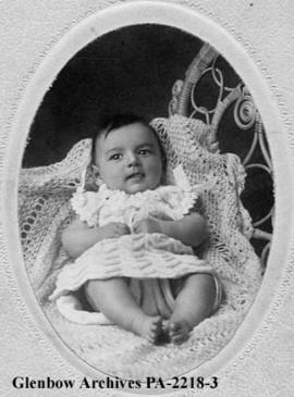 Baby portrait of James Patrick Brady, taken in Edmonton, Alberta.