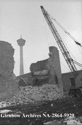Demolition of MAC Theatre, Calgary, Alberta.