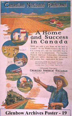 """Canadian National Railways. A Home and Success in Canada."""