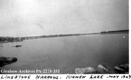View of Limestone Narrows, Namew Lake, Saskatchewan.