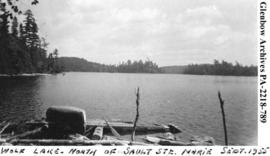 "View of ""Wolf Lake, north of Sault Ste. Marie"", Ontario."