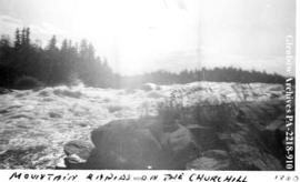 """Mountain Rapids on the Churchill"", River, Saskatchewan."