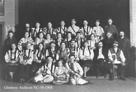 Cast of Ukrainian play, Crowsnest Pass, Alberta.