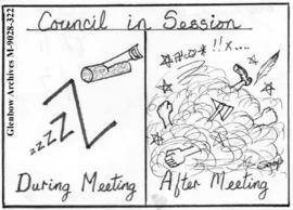 """Council in Session:  During Meeting / After Meeting"""