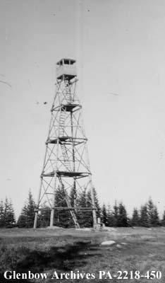 Fire tower, Cumberland House, Saskatchewan.