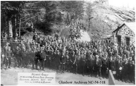 Coal miners' group photo, Coleman, Alberta.