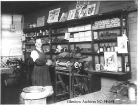 Shoemaker in his shop, Crowsnest Pass area, Alberta.