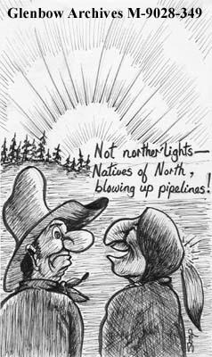 """Not norther' Lights - Natives of North, blowing up pipelines!"""