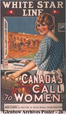 """White Star Line. Canada's Call to Women."""