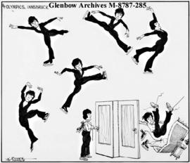 [Olympic skater has fall, possibly in hotel room.]