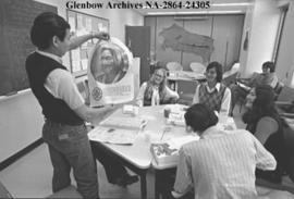 First Nations of Alberta students at the University of Calgary relax in student accommodation, Ca...