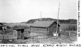 """Original school house, Stanley Mission"", Saskatchewan."