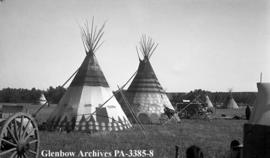 Tipis at the Sun Dance camp, Blackfoot (Siksika) reserve, Alberta.