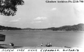 "View of ""Agnew Lake, near Espanola, Ontario""."
