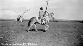 Horn Society outriders, Blackfoot (Siksika) reserve, Alberta.