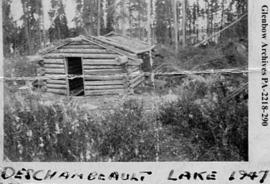 Simeon Ballantyne's cabin, Deschambault Lake, Saskatchewan.