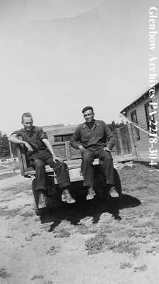 Leonard Johnson and James Brady, Cumberland House, Saskatchewan.