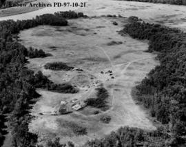 The diggings, Cluny Earthlodge Village archaeological excavation, Blackfoot (Siksika) reserve, so...