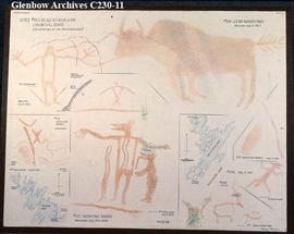 Tracings of pictographs at the Churchill River sites, Saskatchewan.