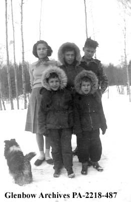 Garneau children, McBride, British Columbia.